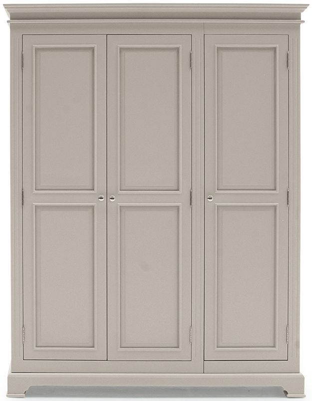 Vida Living Deauville Taupe Painted 3 Door Triple Wardrobe