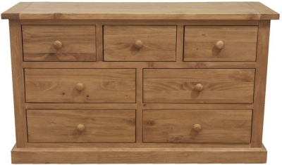 Vida Living Devon Pine Chest of Drawer - 3 Over 4 Drawer