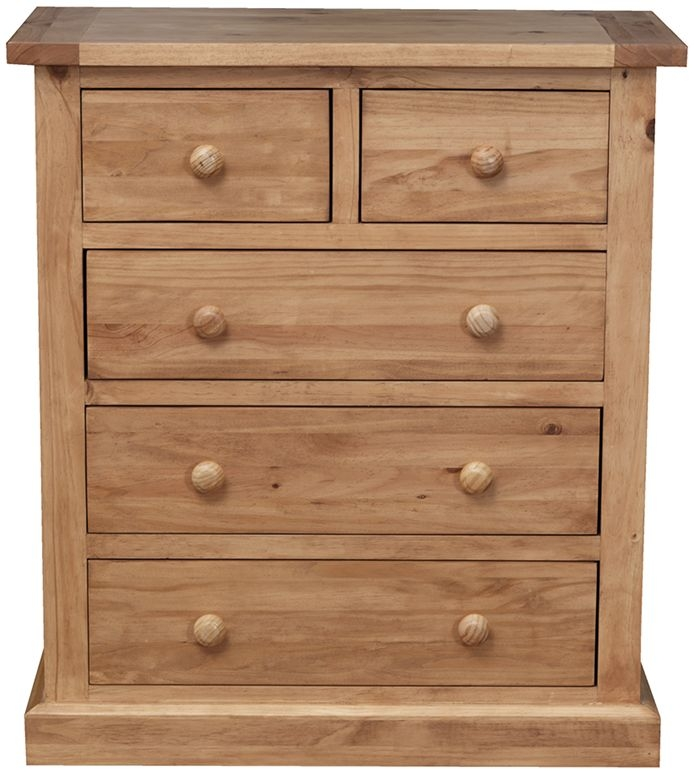 Vida Living Devon Pine Chest of Drawer - Tall 2+3 Drawer
