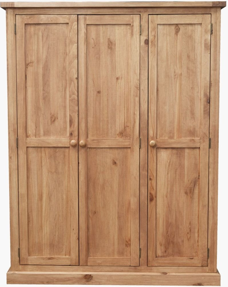 Vida Living Devon Pine 3 Door Triple Wardrobe