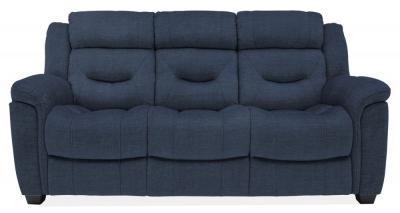 Vida Living Dudley Blue Fabric 3 Seater Sofa