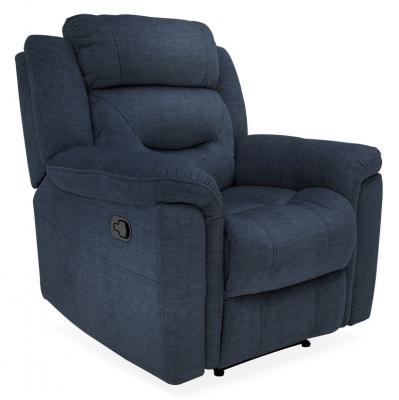 Vida Living Dudley Blue Fabric Recliner Armchair