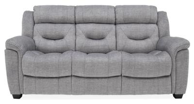 Vida Living Dudley Grey Fabric 3 Seater Sofa