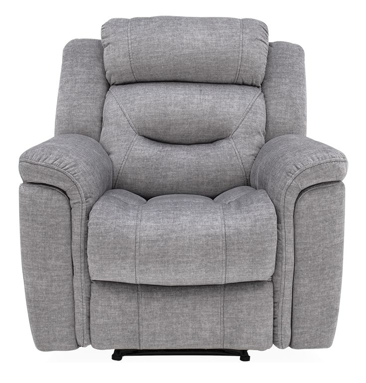 Vida Living Dudley Grey Fabric Recliner Armchair