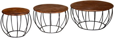 Vida Living Durango Natural Nesting Table (Set of 3)