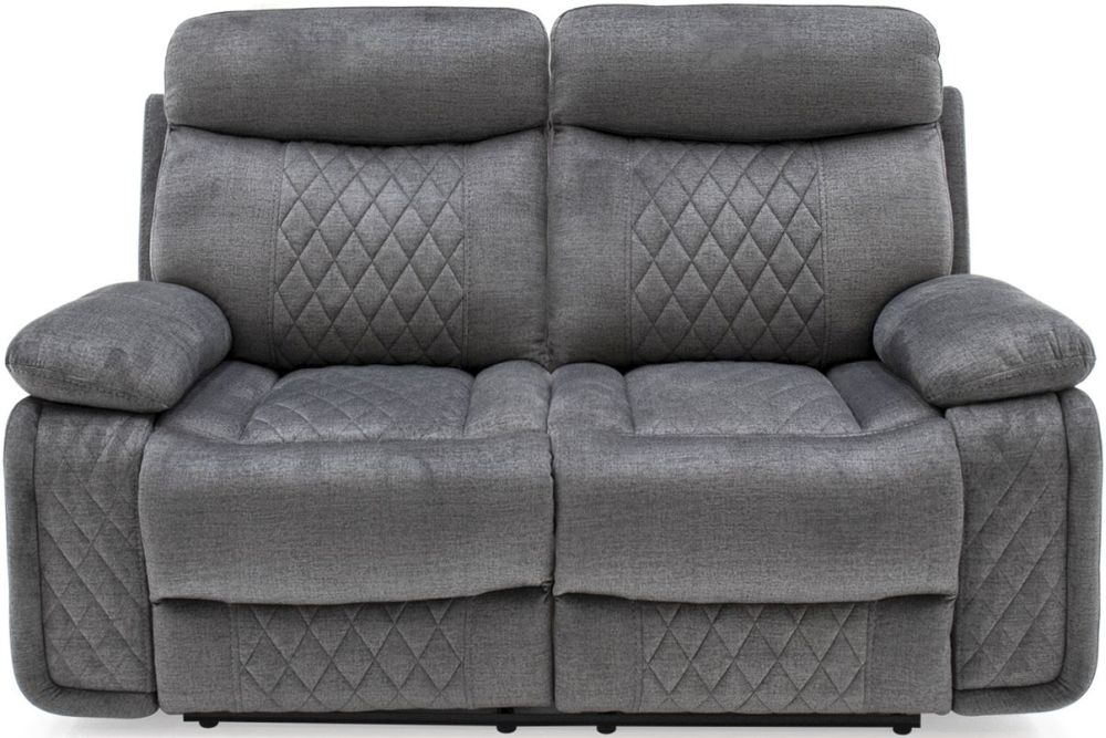 Vida Living Eason 2 Seater Recliner Sofa - Grey Fabric