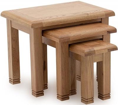 Vida Living Edmonton Oak Nest of 3 Tables