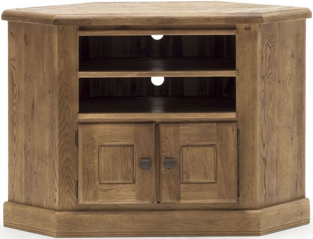 Vida Living Edmonton Oak Corner TV Unit