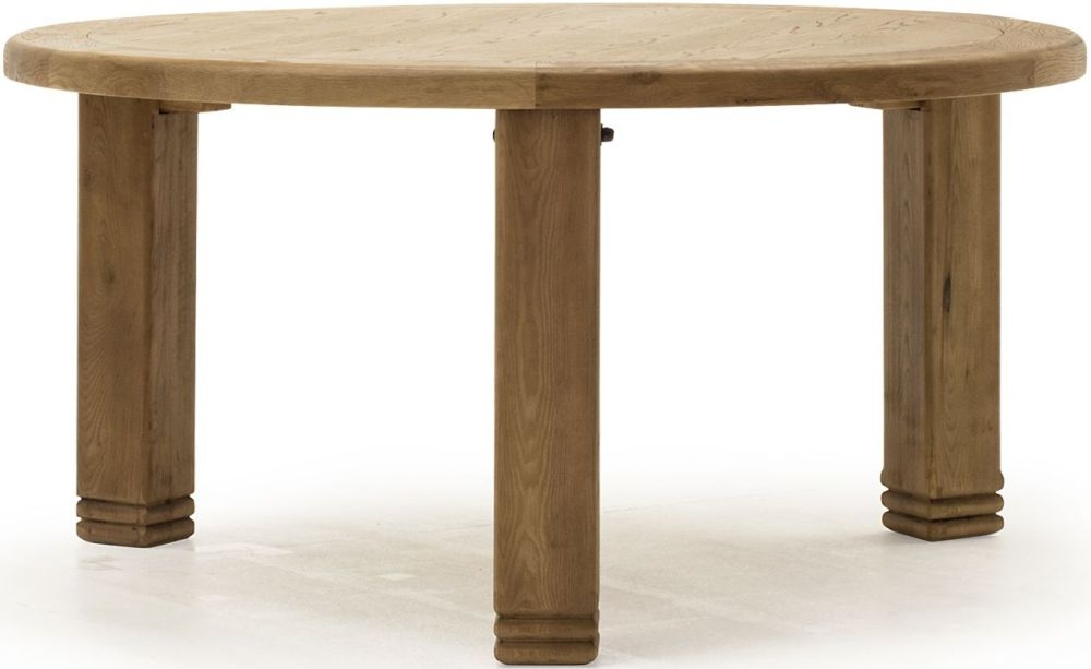 Vida Living Edmonton Oak Round Dining Table