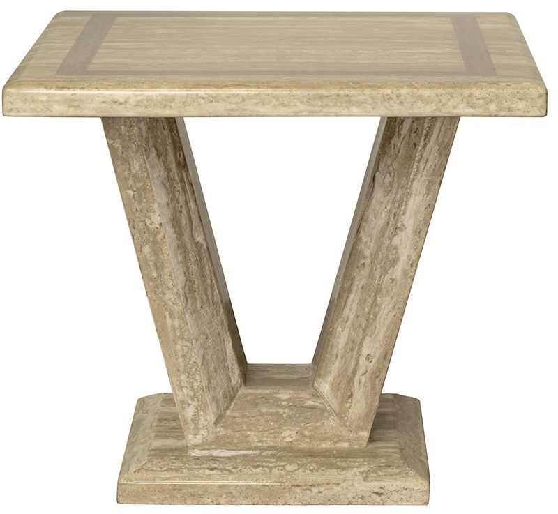 Vida Living Elgin Marble Sahara End Table