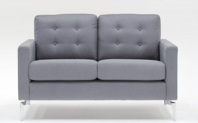 Vida Living Eliza 2 Seater Fabric Sofa - Grey