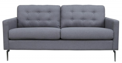 Vida Living Eliza 3 Seater Fabric Sofa - Grey