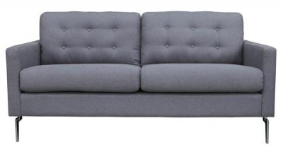 Vida Living Eliza 3 Seater Fabric Sofa - Grey