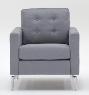 Vida Living Eliza Fabric Armchair - Grey