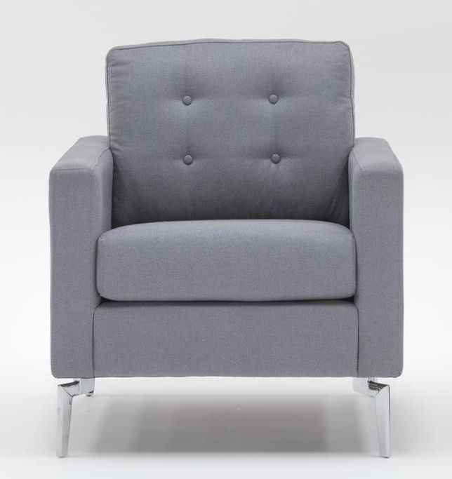 Vida Living Eliza Fabric Armchair - Grey