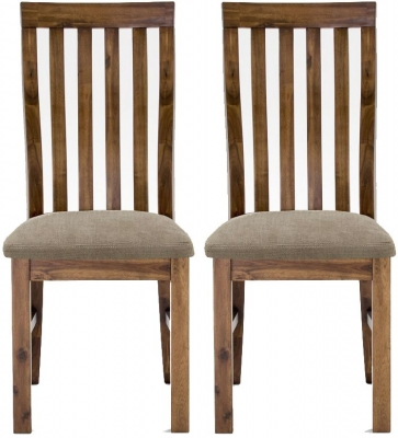 Vida Living Emerson Walnut Dining Chair - Slatted Back (Pair)