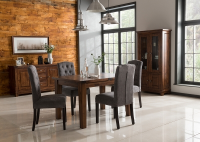 Vida Living Emerson Walnut Dining Set - Extending with 4 Dining Chairs