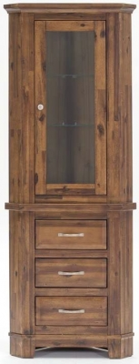Vida Living Emerson Walnut Display Unit - Corner