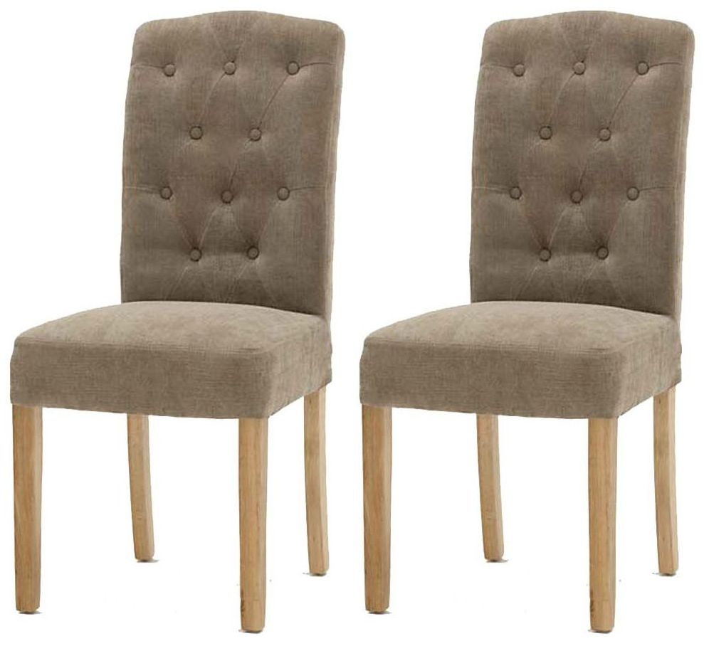 Vida Living Emerson Camel Dining Chair with Oak Legs (Pair)