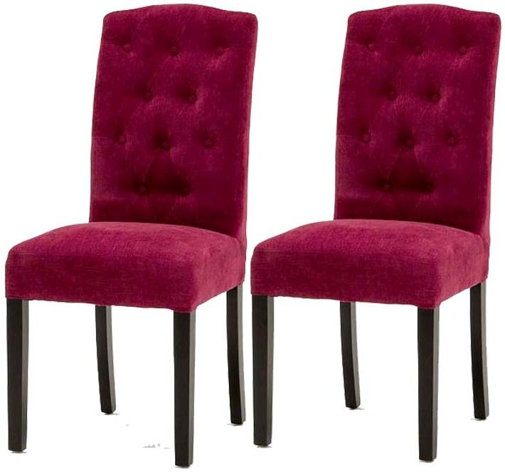 Vida Living Emerson Dining Chair - Claret (Pair)