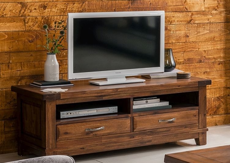 Vida Living Emerson Acacia 2 Drawer Rectangular TV Unit