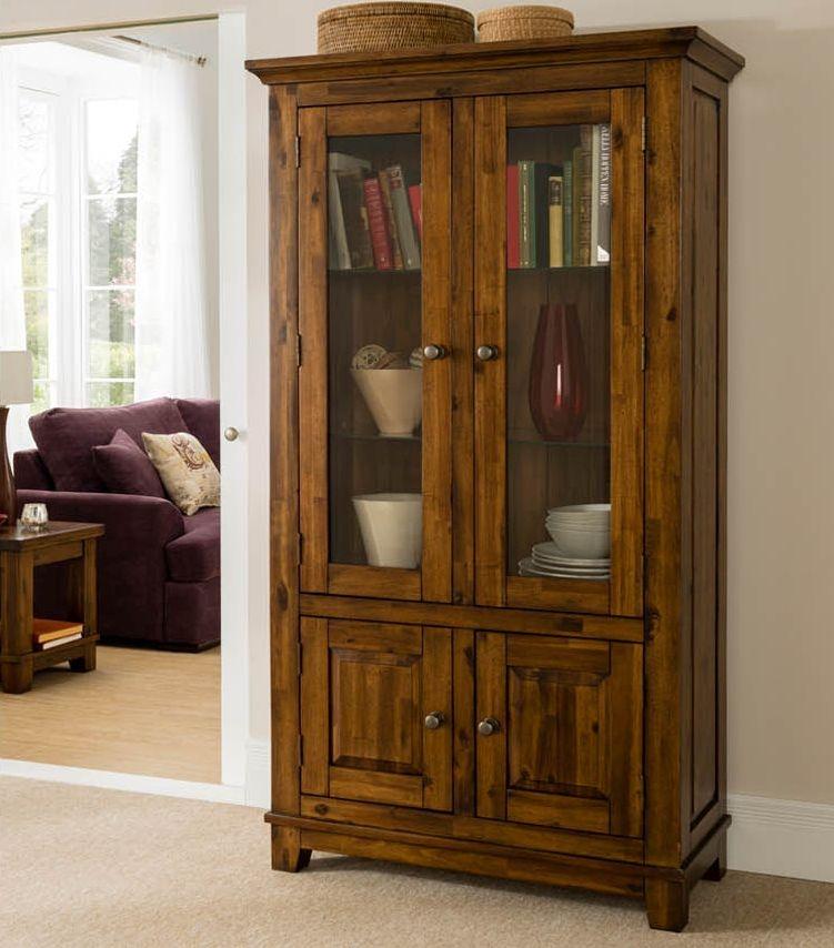 Vida Living Emerson Dark Brown Display Cabinet