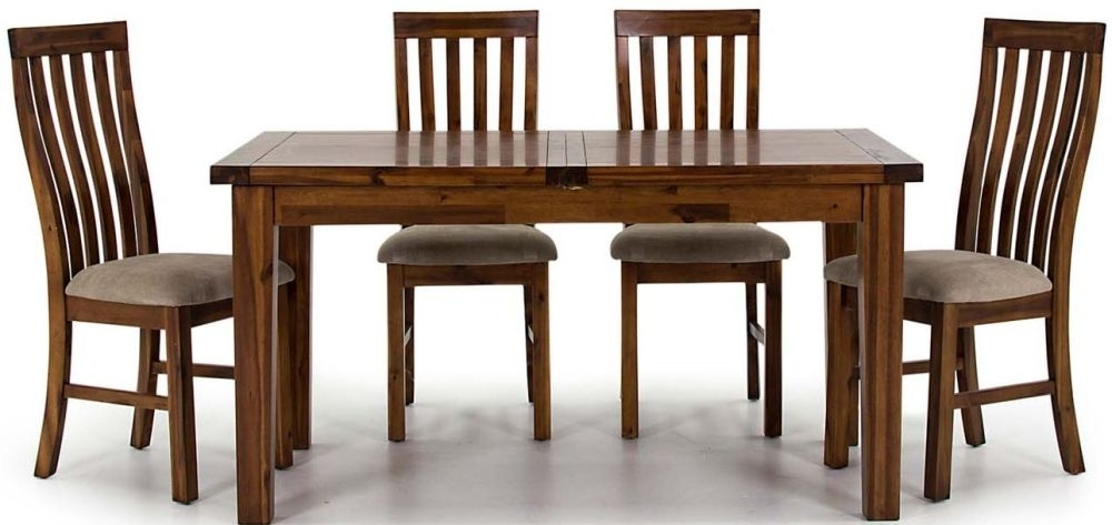 Vida Living Emerson Dark Brown Large Extending Dining Table and Chairs