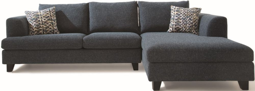 Vida Living Etta Right Corner Group Sofa - Grey Fabric