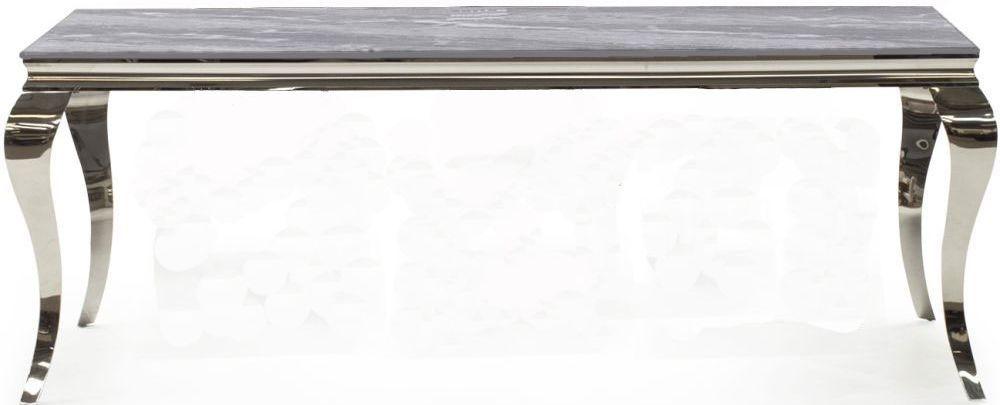 Vida Living Fabien 200cm Dining Table - Grey Glass and Chrome