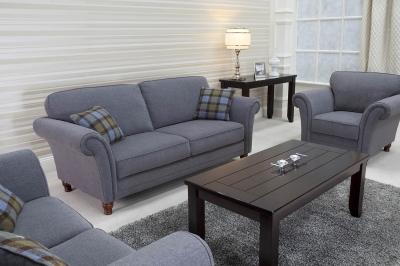 Vida Living Argyle Fabric Sofa - Grey