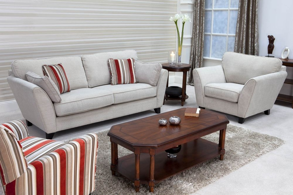 Vida Living Vienna Fabric Fixed Sofa - Beige