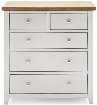 Vida Living Ferndale Grey Painted 3+2 Drawer Tall Chest