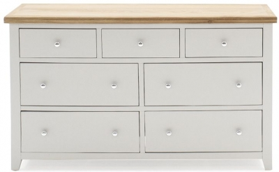 Vida Living Ferndale Grey Painted 7 Drawer Dresser Chest