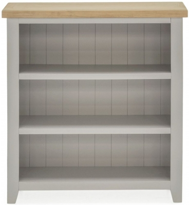 Vida Living Ferndale Low Bookcase - Oak and Grey Painted