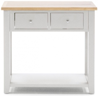 Vida Living Ferndale Console Table - Oak and Grey Painted