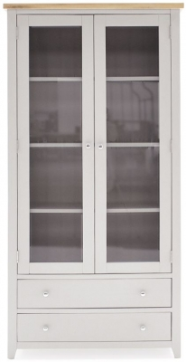 Vida Living Ferndale Grey Painted Display Cabinet
