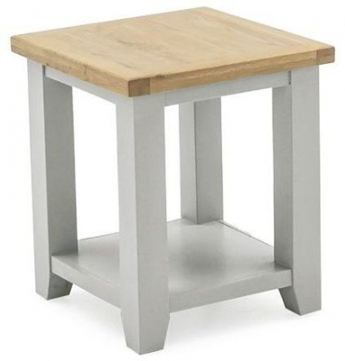 Vida Living Ferndale Lamp Table - Oak and Grey Painted