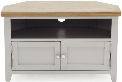 Vida Living Ferndale Corner TV Unit - Oak and Grey Painted