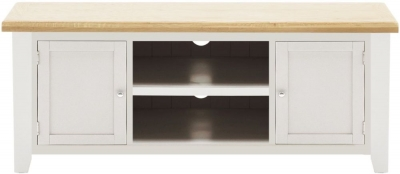 Vida Living Ferndale Large TV Unit - Oak and Grey Painted
