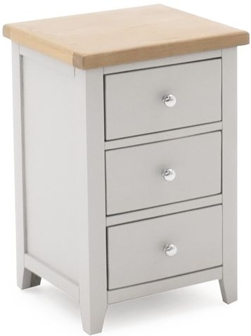 Vida Living Ferndale Bedside Cabinet - Oak and Grey Painted