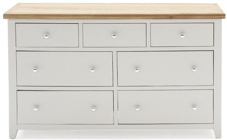 Vida Living Ferndale 4+3 Drawer Chest - Oak and Grey Painted
