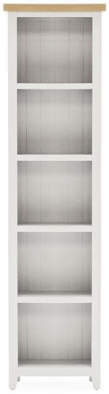 Vida Living Ferndale Grey Painted Slim Bookcase