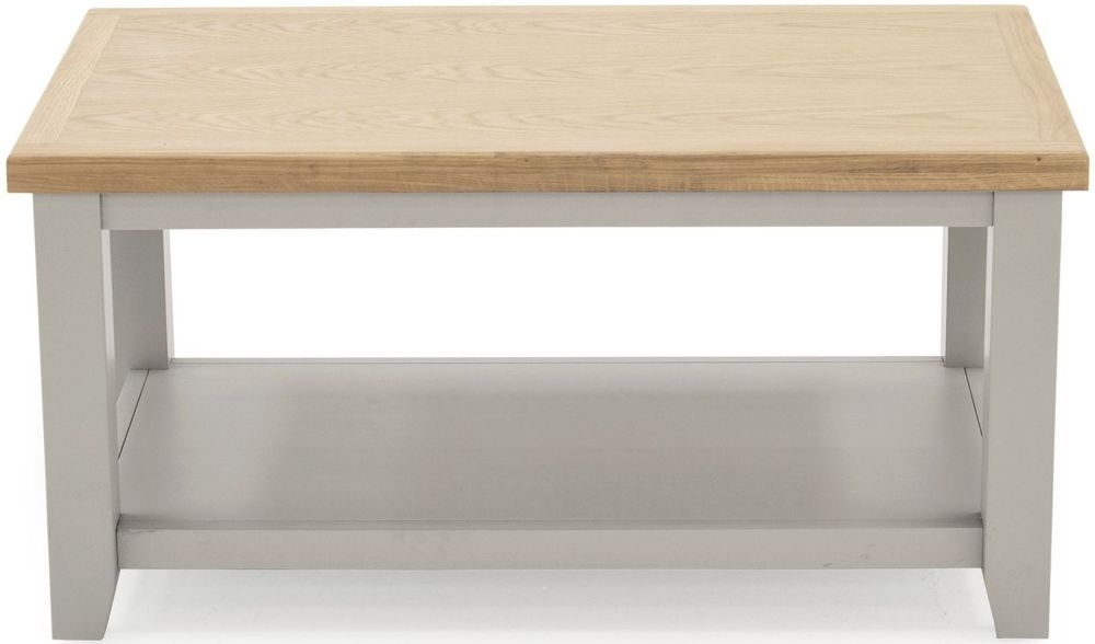 Vida Living Ferndale Coffee Table - Oak and Grey Painted