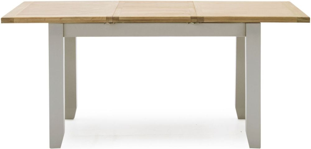 Vida Living Ferndale Extending Dining Table - Oak and Grey Painted