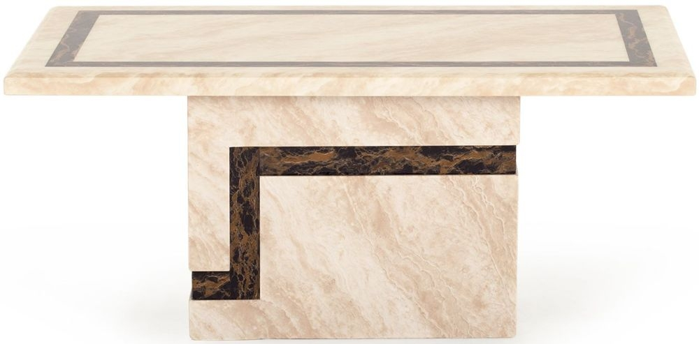 Vida Living Filippo Cream Marble Coffee Table
