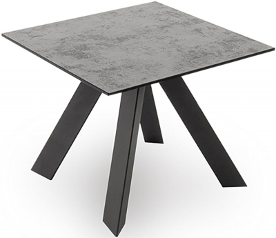 Vida Living Flavia Grey Glazed Glass Top Side Table