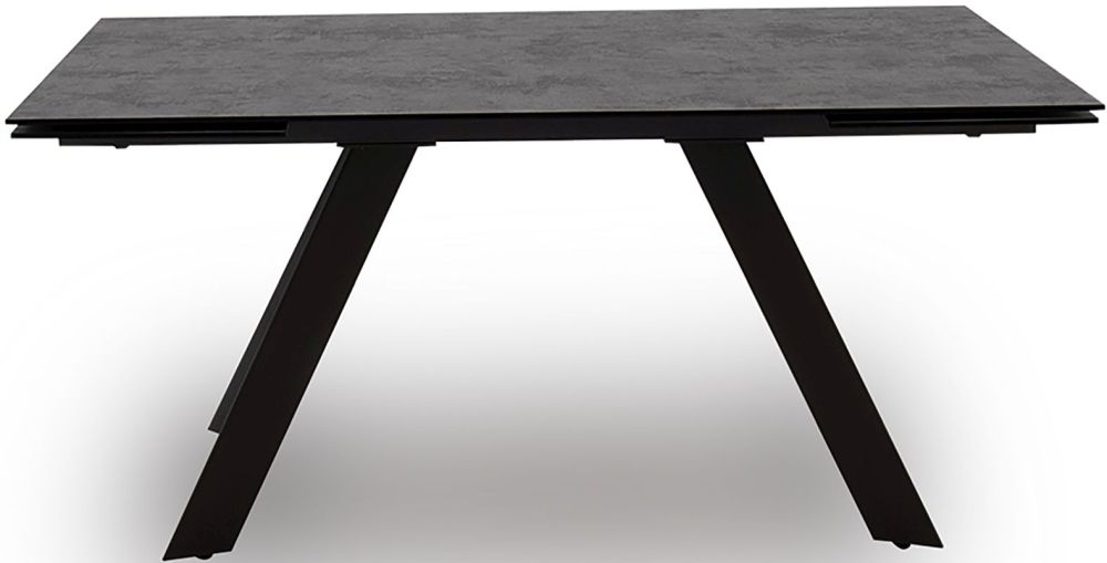 Vida Living Flavia 160cm-240cm Grey Glazed Glass Top Extending Dining Table