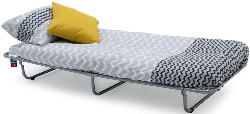 Vida Living Enna Grey Folding Bed with Metal Legs