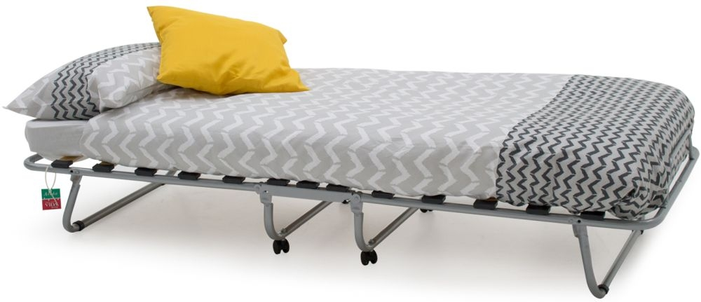 Vida Living Noto Grey Folding Bed with Metal Legs