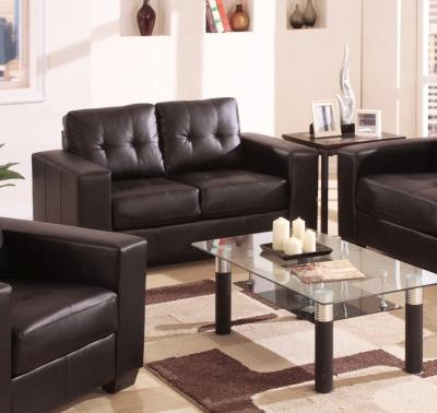 Vida Living Gemona 2 Seater Leather Sofa - Brown